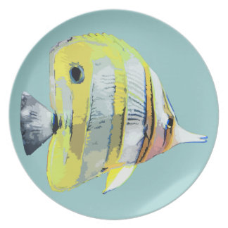 Copper-banded Butterfly Fish Dinner Plate