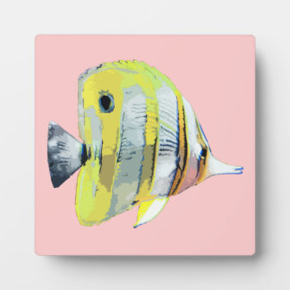 Copper-banded Butterfly Fish Display Plaque