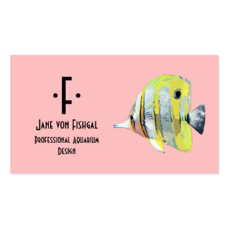 Copper-banded Butterfly Fish Double-Sided Standard Business Cards (Pack Of 100)
