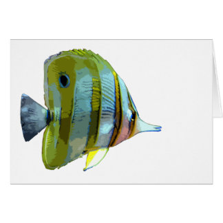 Copper-Banded Butterfly Fish Greeting Card