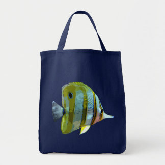 Copper-Banded Butterfly Fish Grocery Tote Bag