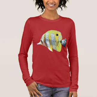 Copper-banded Butterfly Fish Long Sleeve T-Shirt