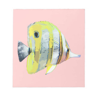 Copper-banded Butterfly Fish Memo Notepad