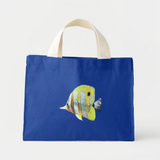Copper-banded Butterfly Fish Mini Tote Bag