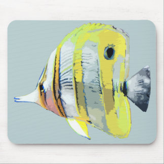 Copper-banded Butterfly Fish Mouse Pads