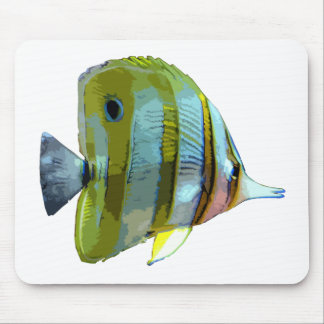 Copper-Banded Butterfly Fish Mousepads