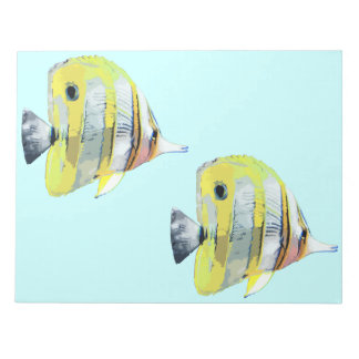 Copper-banded Butterfly Fish Notepad