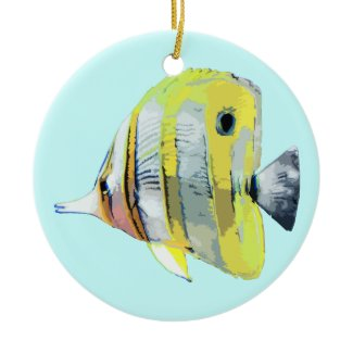 Copper Banded Butterfly Fish ornament