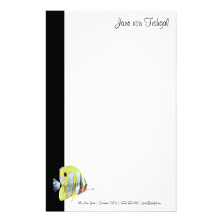 Copper-banded Butterfly Fish Stationery