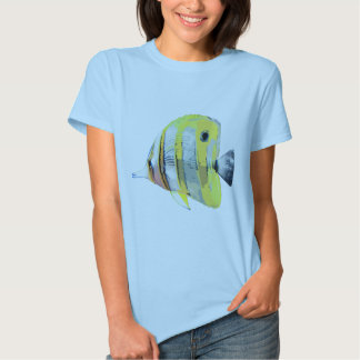 Copper-banded Butterfly Fish Tee Shirt