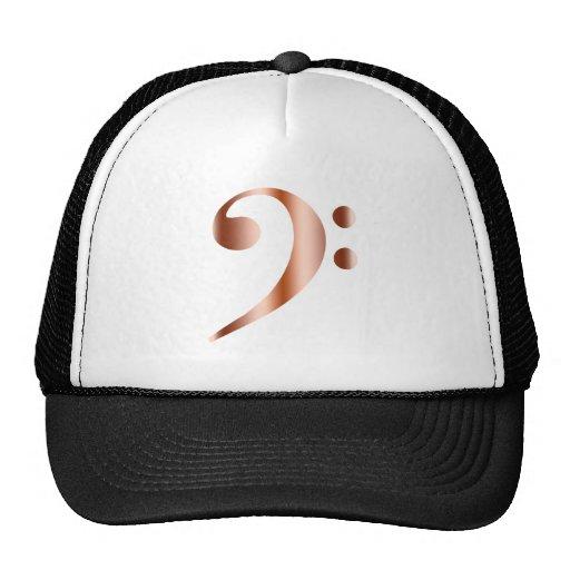 Copper Bass Clef Mesh Hats