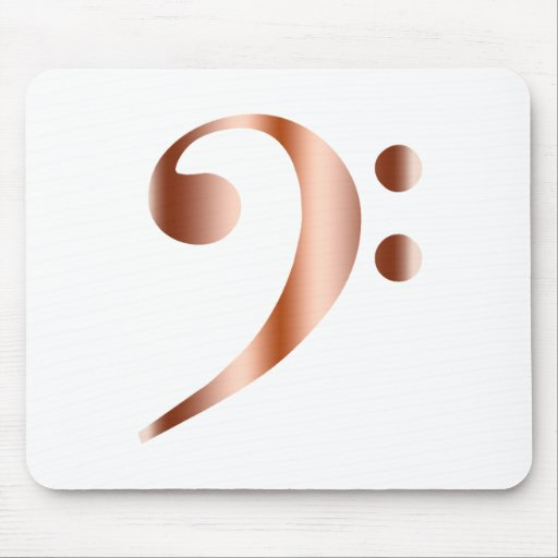 Copper Bass Clef Mousepads