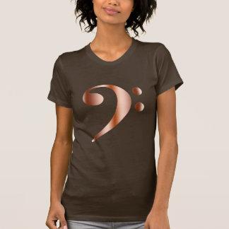 Copper Bass Clef Tee Shirt
