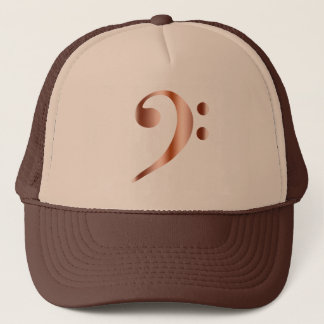 Copper Bass Clef Trucker Hat
