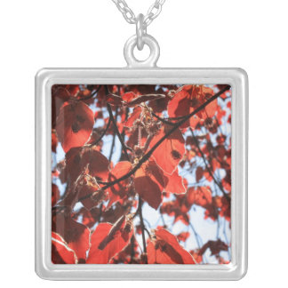 copper beech square pendant necklace