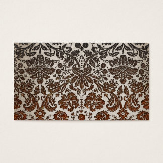 Copper, Black, and Brown Damask Business Card