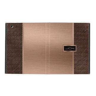 Copper & Black Brushed Metal Look & Metallic Mash iPad Cases