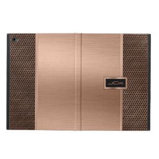 Copper & Black Brushed Metal Look & Metallic Mash Powis iPad Air 2 Case