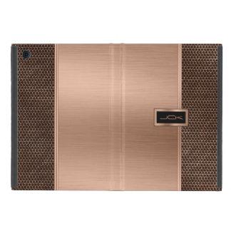 Copper & Black Brushed Metal Look & Metallic Mash iPad Mini Cover