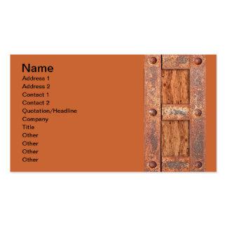 COPPER BRONZE TREASURE CHEST DOOR METAL RUST BOLTS BUSINESS CARD