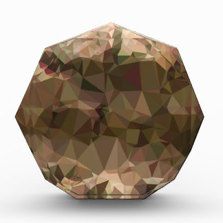 Copper Brown Abstract Low Polygon Background Award