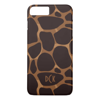 Copper Brown Leopard Print iPhone 8 Plus/7 Plus Case