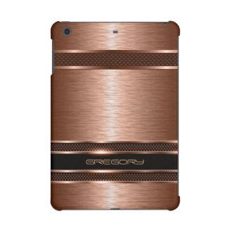 Copper Brown Metallic Brushed Aluminum Look iPad Mini Cover