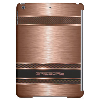 Copper Brown Metallic Brushed Aluminum Look Case For iPad Air