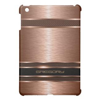 Copper Brown Metallic Brushed Aluminum Look iPad Mini Case