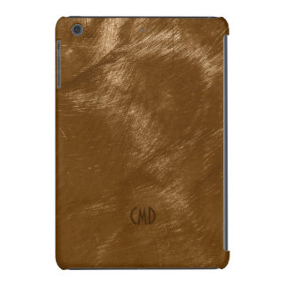 Copper Brown Metallic Design Brushed Steel Look 2 iPad Mini Retina Covers