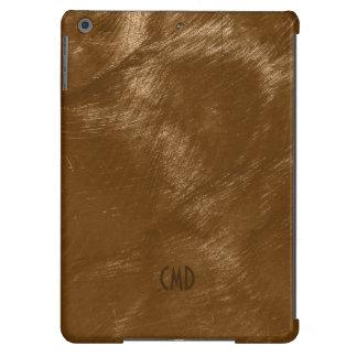 Copper Brown Metallic Design Brushed Steel Look 2 iPad Air Case