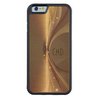 Copper Brown Metallic Retro Dynamic Wave Carved® Maple iPhone 6 Bumper Case
