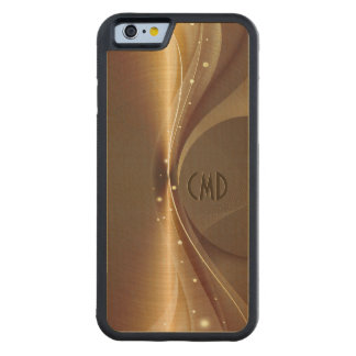 Copper Brown Metallic Retro Dynamic Wave Carved® Maple iPhone 6 Bumper Case