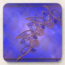 Copper Butterflies Cork Coaster