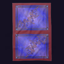 Copper Butterflies Kitchen Towel