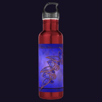 Copper Butterflies Water Bottle