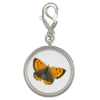 Copper butterfly design charms