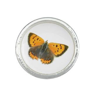 Copper butterfly design rings