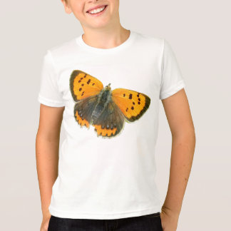 Copper butterfly design t-shirt