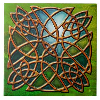 Copper Celtic Knot (Ceramic Tile) Ceramic Tile