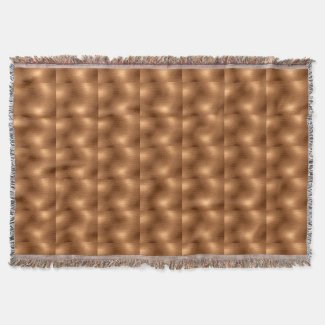 Copper Check Comfy Throw Blanket