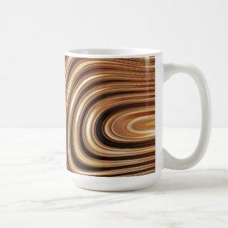 Copper Coffee Swirls Classic White Coffee Mug