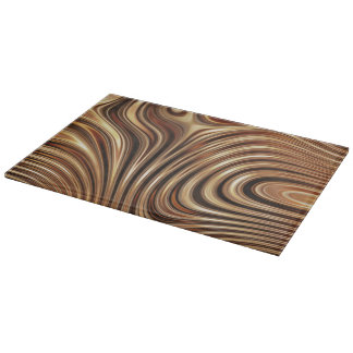 Copper Coffee Swirls Cutting Board