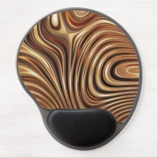 Copper Coffee Swirls Gel Mouse Pad