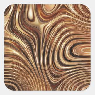Copper Coffee Swirls Square Sticker