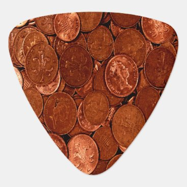 Professional Business Copper Coins Guitar Pick