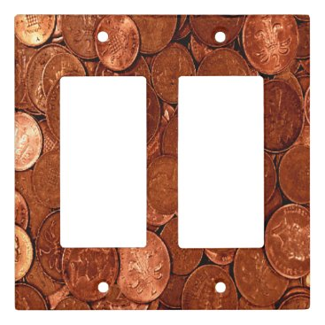 Professional Business Copper Coins Light Switch Cover