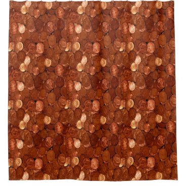 Copper Coins Shower Curtain