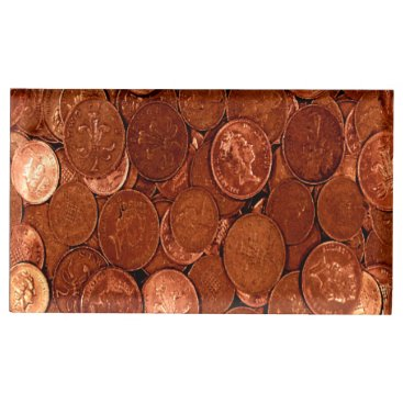 Professional Business Copper Coins Table Number Holder