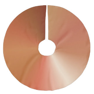 Copper Colored Metallic Style Gradient Brushed Polyester Tree Skirt